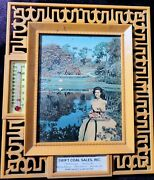 Vintage Advertising Thermometer Swift Coal Sales Inc. 6.5x7.5 Retro Frame Wow