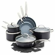 Valencia Pro Hard Anodized Induction Safe Cookware Pots And Pans Set, 11 Piece