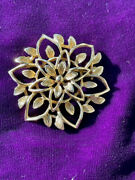 Sarah Coventry Vintage Flower Brooch Gold Tone