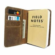 """Leather Field Notes Cover For Memo - Pocket Sized Notebook, Fits 3.5"""" X 5.5"""""""