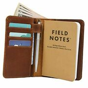 """Leather Field Notes Wallet Cover For Memo – Pocket Sized Notebook, Fits 3.5"""" X"""