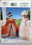 Vogue 9867 Sewing Pattern Craft 11.5 Doll Clothes