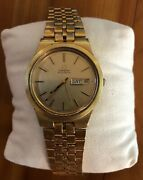 Omega Automatic Menandrsquos Watch Stainless Steel With Day/date