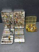 Vintage Fly Fishing Flies Lot Poppers Perrine Cases