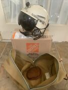 Usaf P-4b Flying Helmet Size Small 1959 Dated With Carry Bag