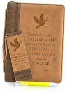 Faux Leather Bible Cover- Bundle W/bookmark And Gel Highlighter. John Medium