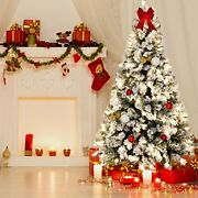 Christmas Tree Artificial Xmas Decorations With 250 Led Warm Lights For Holiday