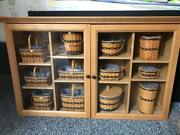 Longaberger Jw Collection 12 Miniature Baskets And Cabinet In Mint Condition