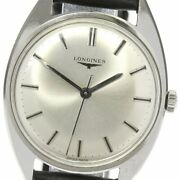 Longines 7910-1 Antique Silver Dial Hand Winding External Products Belt