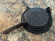 Griswold American 8 Cast Iron 3 Pc Low Base Waffle Maker, Complete, Restored
