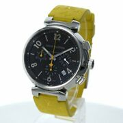 Louis Vuitton Tambour Q1121 Automatic Brown Dial 3-handed Chronograph Mens Watch