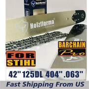 42 Inch .404 .063 125dl Holzfforma Bar And Chain For Stihl 088 Ms880 070 090 084