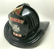 Vintage Cairns And Brother Aluminum Fire Helmet Boeing Fire Department