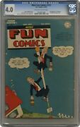 More Fun Comics 102 Dc 1945 Cgc 4.0 2nd Appearance Of Superboy Golden Age
