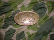 Civil War Cs Confederate Field Belt Oval Lead Filled Buckle Aged Looks Awesome