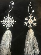 Two Gorgeous White Snowflake Christmas Tree Ornaments From New York City