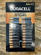 New - March 2030 - Duracell Coppertop Aa Alkaline Batteries - 80 Count 2x 40