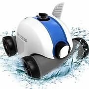 Cordless Robotic Pool Cleaner, Automatic Pool Robot Vacuum With 60-90 Mins