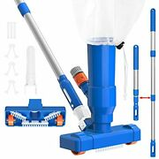 Upgraded 34'' Portable Pool Vacuum Jet Cleaner Pond With Brush, Leaf Bag And
