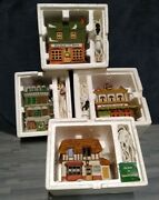 Dept. 56, Dickens Village, Lot Of 4 Houses   Excellent Condition 🎅