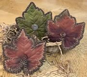 Primitive Fall Leaves. Bowl Fillers. Ornies. Farmhouse Country