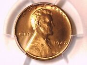 1948 S Lincoln Wheat Cent 1c Penny Pcgs Ms 66 Rd 38167430