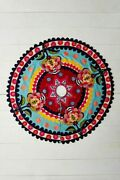 New Anthropologie Verdure Christmas Tree Skirt Colorful Floral Eclectic