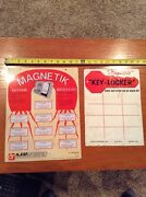 Key Magnetic Sign Lot Of 2, Thin Metal Advertising Key-locker And Magn. Keycase
