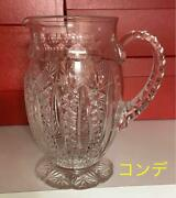 Baccarat Crystal Glass Pitcher H19cm Conde Jug Pot Ornament Tableware In Box
