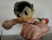 Astro Boy Friction Type Tinplate Soft Vinyl Old Bandai Made In Japan Very Rare