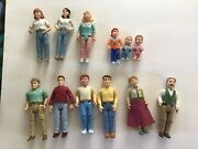 Vintage Lot Of Fisher Price Loving Family Dollhouse Figures People 12 Dolls