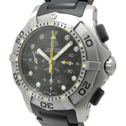 Tag Heuer 2000 Aquagraph Cn 211 A. Ft 8001 Automatic Rolled Chronograph Black Di