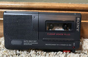 Sony M-450 Voice Recorder Black Microcassette-corder Tested Working