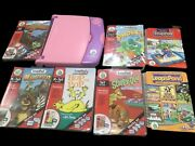 Leap Frog Leappad Pink Purple 2001 And 7 Interactive Books W 5 Cartridges