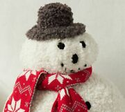 Nwt Pottery Barn Archie Snowman Shaped Pillow- Sold Out 14