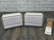 Pair Of Bose 151 Outdoor Speakers - White / With One Mounting Bracket Read Info