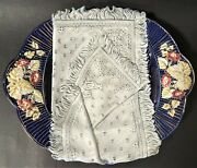 Rare Antique Imperial Russian Kuznetsov Faience Crackers Plate