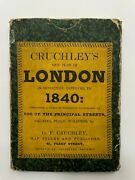 Cruchley's Plan Of London 1840 Folding On Linen In His Pocket-book 19th Century