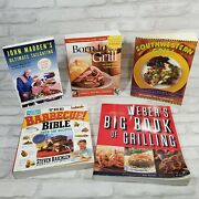 Lot Of 5 Grilling Barbecue Recipe Ingredient Books