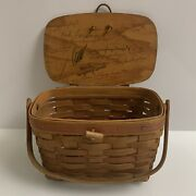 Longaberger 1991 Mothers Day Basket Autographed By 14 Family Members