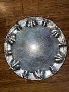 Vintage F.b.rogers Silver Co.1883 Round Ornate Serving Tray 257 13