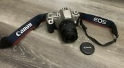 Canon Eos Rebel 2000 35mm Film Camera And 35-80mm Lens Tested W/ New Batteries