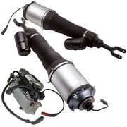 Pair Front Struts Assembly + Air Pump For Bentley Continental Gt Flying Spur New