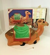 Vintage Empire Christmas Nativity Blow Mold Camel Plastic Lighted 28 W/box1986