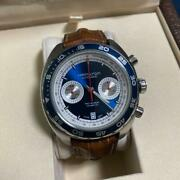 Hamilton Pan Europ Chronograph H35716545 Date Automatic Blue Dial Watch Used
