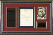 John F. Kennedy - Typed Letter Signed 07/30/1953