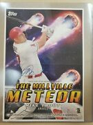 Mike Trout 2020 Topps Archives Autograph Mini Poster Millville Meteor Auto Sp