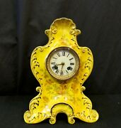 Vintage French Pottery Mantle Clock