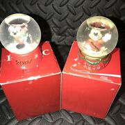 Disney Jc Penny Christmas Mickey Mouse Mini Snow Globes 2007 And 2008