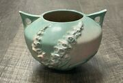 Roseville Pottery Pink And Green Foxglove Double Handle Vase 418-4
